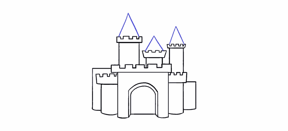 Easy To Draw Cartoon Castles Drawings Arch.
