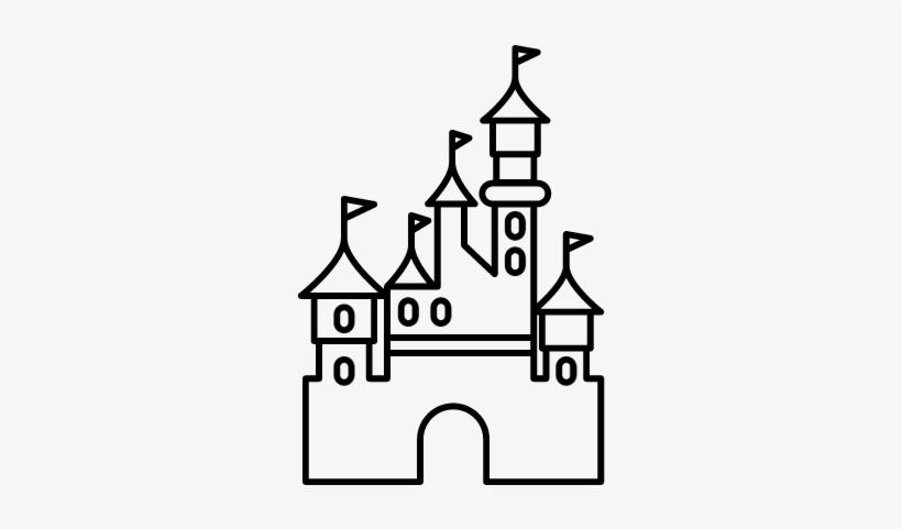 Free Disney Castle Logo Outline.