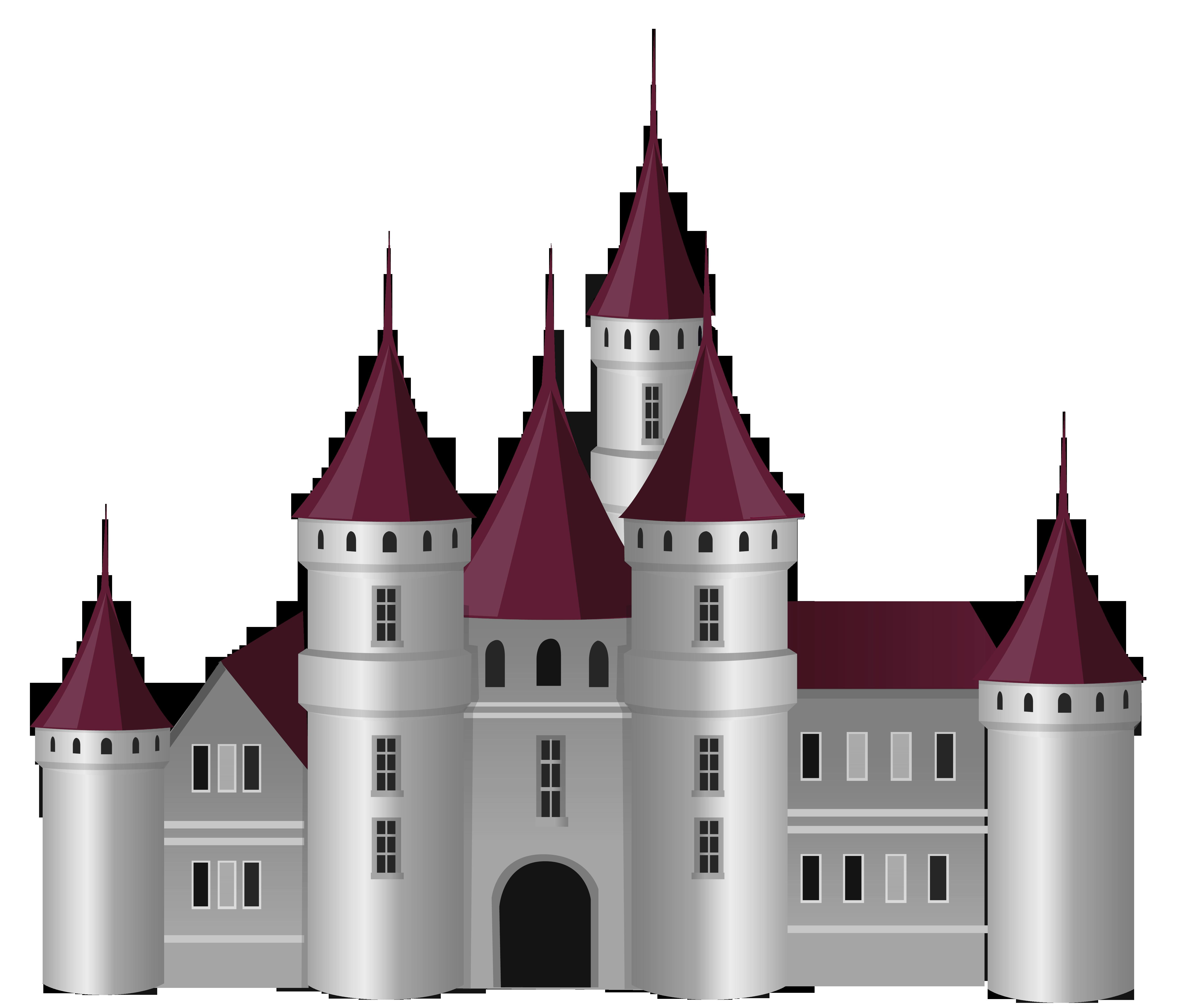 Transparent Castle PNG Picture.