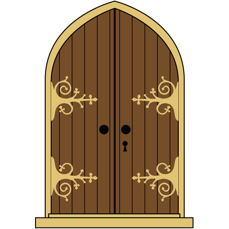 Locked Door Clipart Cartoon Closet Home Furniture