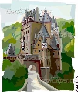Burg Eltz Castle Vector Clip art.