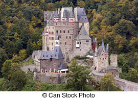 Stock Photography of Burg Eltz Castle.