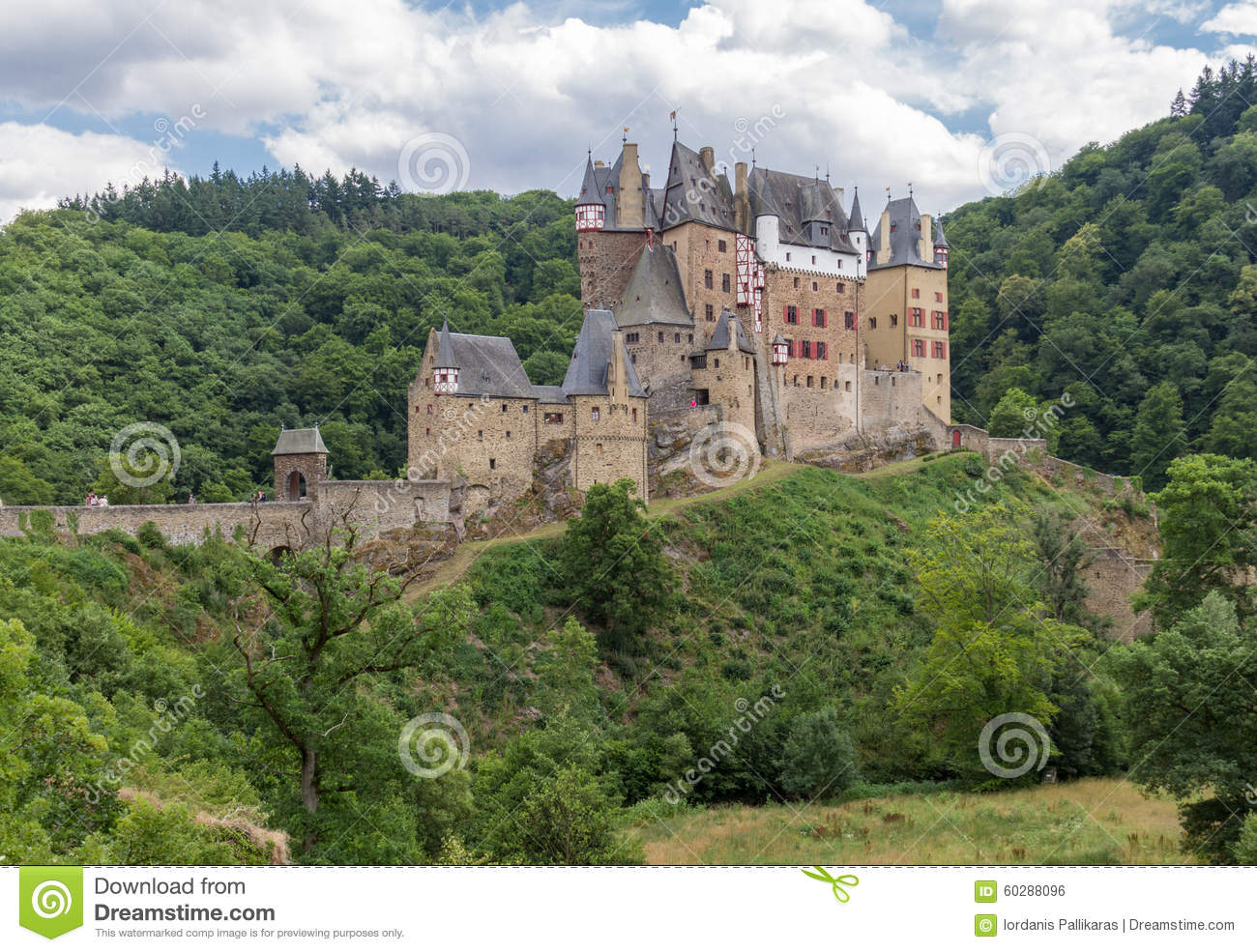 Burg Eltz, Picturesque Medieval Castle At The Rhine Valley.