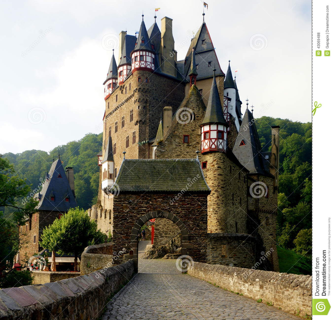 Eltz Castle Stock Photo.