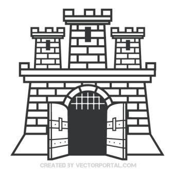 Clip Art of Windmill Free Vector.