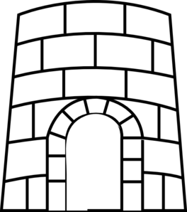 Castle outline clip art.