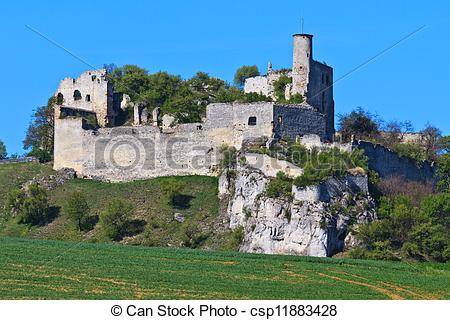 Stock Photo of Falkenstein Castle Ruins, Lower Austria.