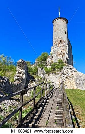 Stock Photography of Falkenstein Castle Ruins, Lower Austria.