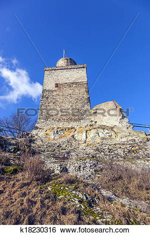 Stock Images of famous old castle Falkenstein k18230316.