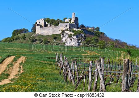 Stock Photos of Falkenstein Castle Ruins, Lower Austria.