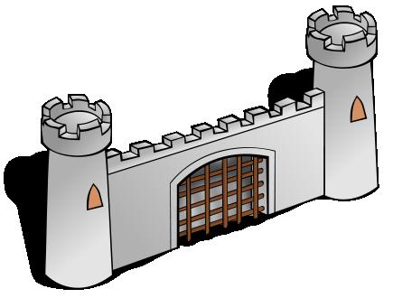 Castle Gate Clipart.