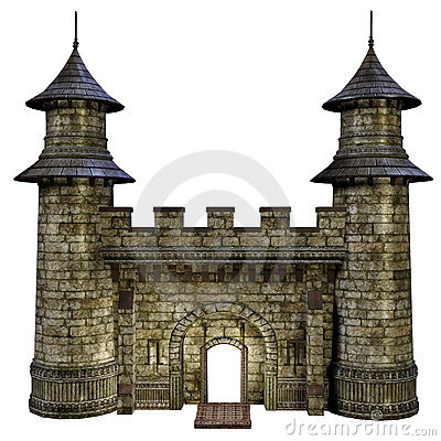 Castle Gate Royalty Free Stock Images.
