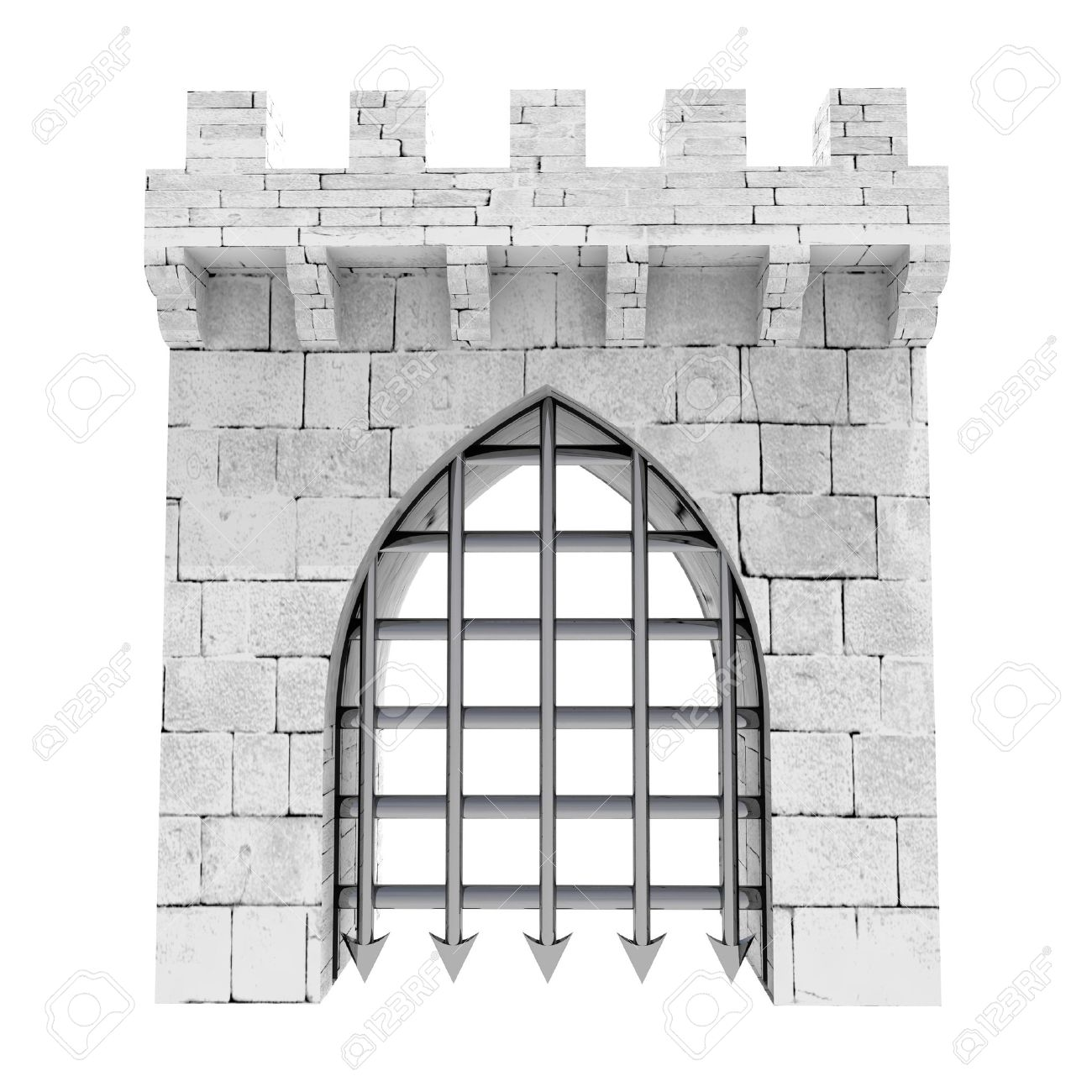 Castle gate clipart.