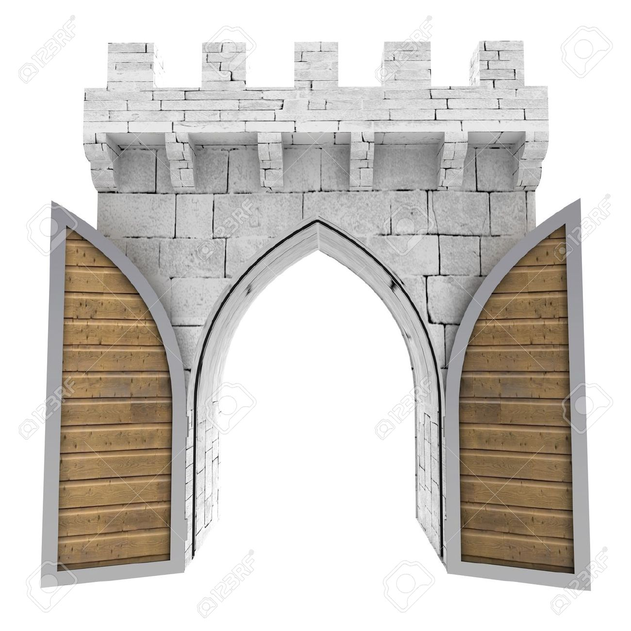 Castle gate clipart - Clipground