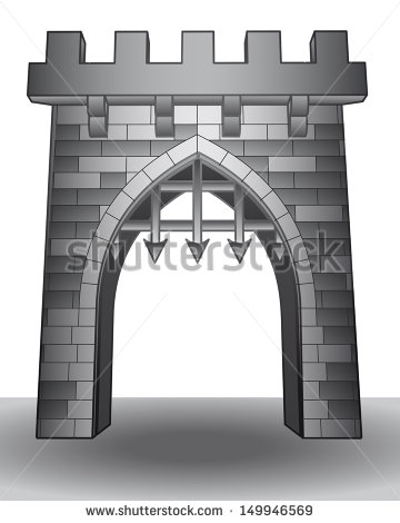 Castle Gate Stock Photos, Royalty.