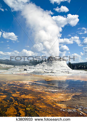 Stock Photo of Castle Geyser, Yellowstone NP k3809933.