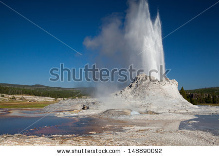 Castle geyser clipart #13