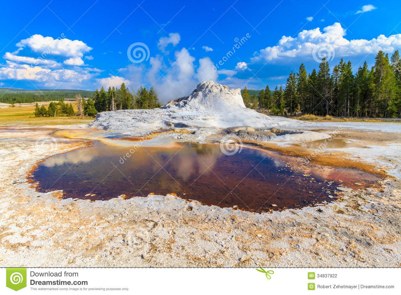 Castle geyser clipart #2