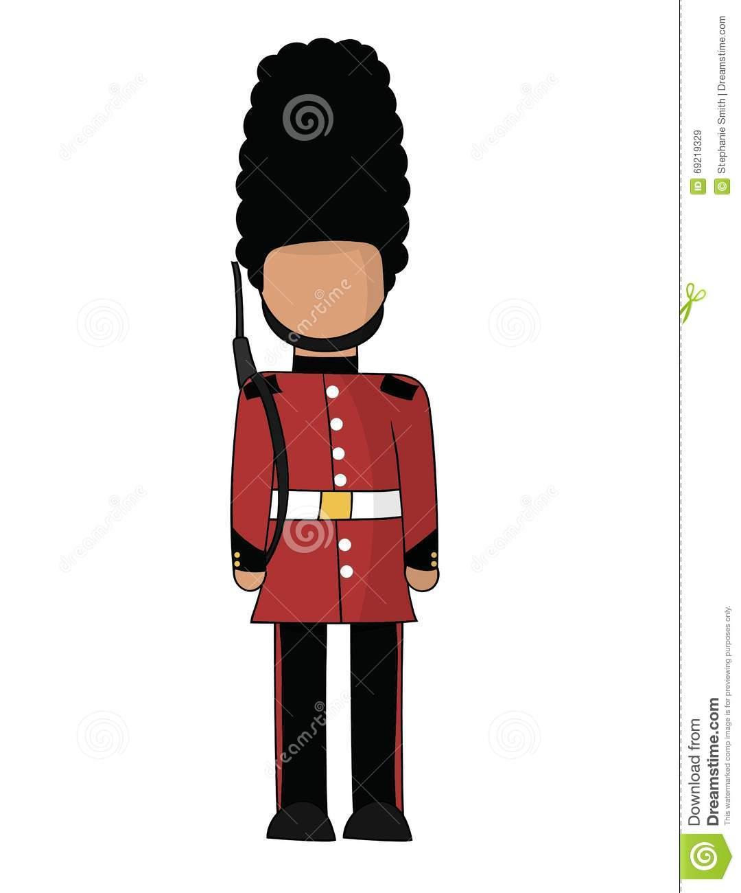 British Royal Guard stock vector. Illustration of castle.