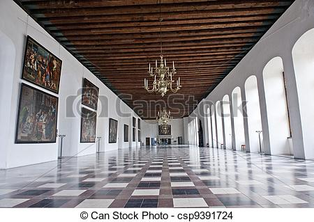 Stock Photo of Kronborg Castle Hall.