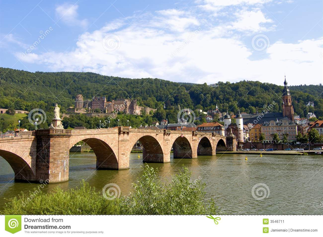 Old Bridge, Heidelberg Castle Stock Image.