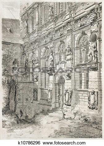 Stock Illustration of Heidelberg castle k10786296.