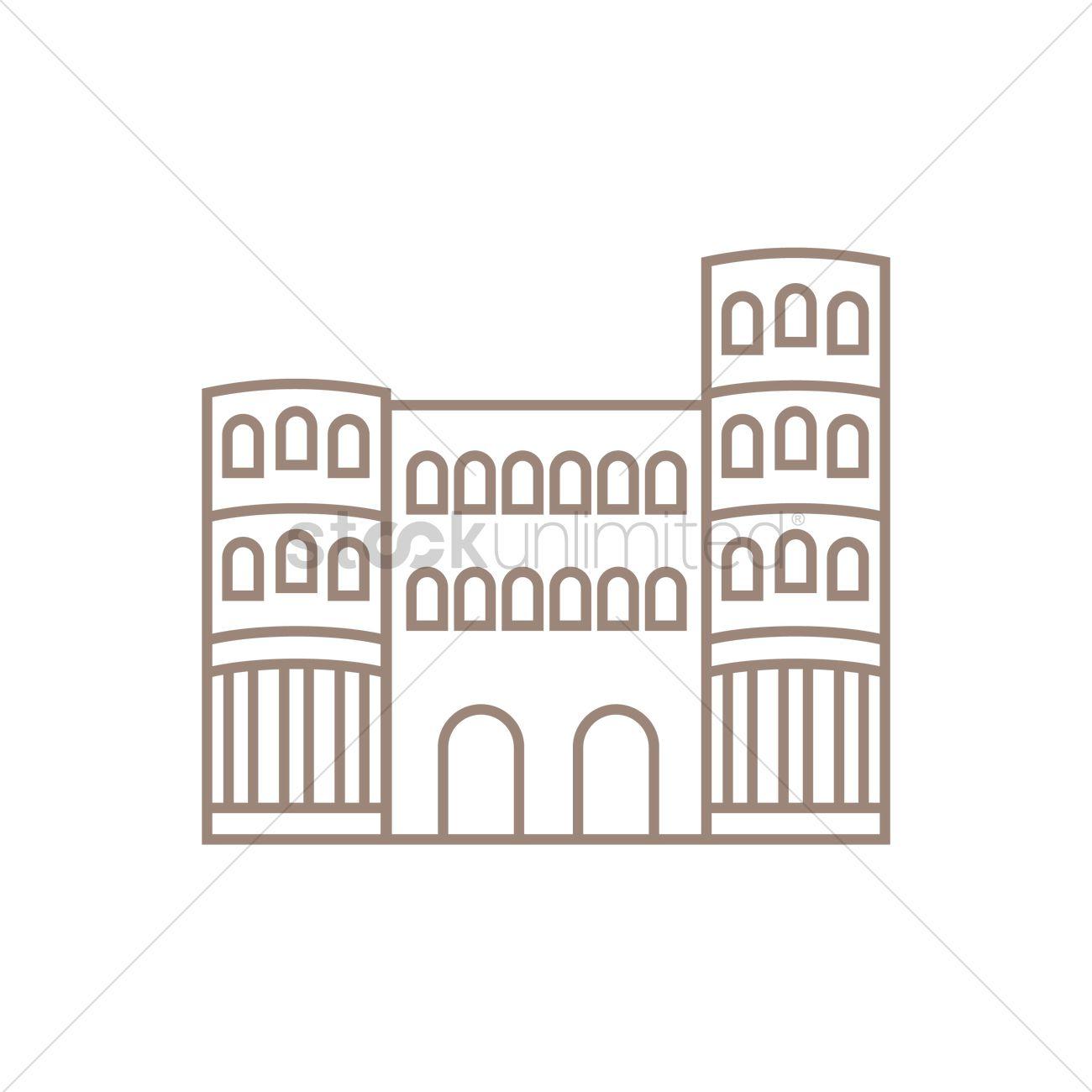 Heidelberg castle Vector Image.