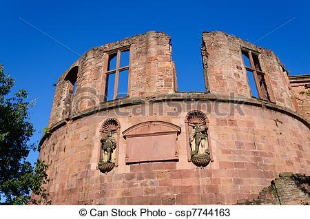 Stock Photos of Heidelberg Castle in Germany.