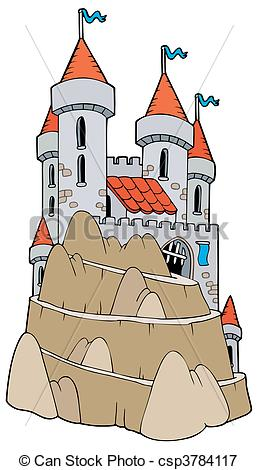 Vectors Illustration of Castle on hill.