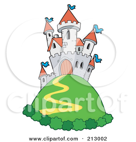 Clipart Hill Castle In Ruins.