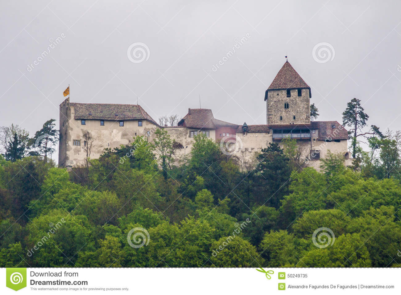 Hohenklingen Castle Stein Am Rhein Switzerland Stock Photo.