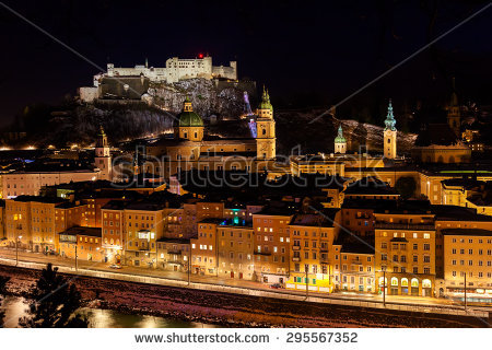Night Salzburg By Stock Photos, Royalty.