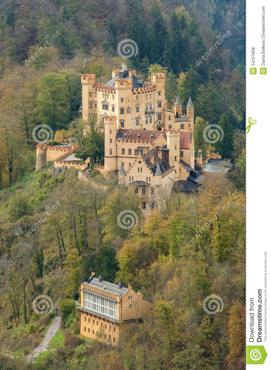 The Castle Of Hohenschwangau In Bavaria, Germany Stock Photo.