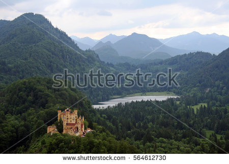 Castle Hohenschwangau Stock Photos, Royalty.