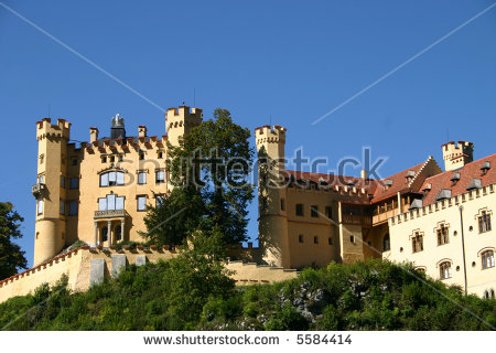 Hohenschwangau Castle Stock Photos, Royalty.