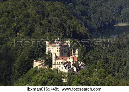 "Stock Image of ""View from Jugend lookout point towards Schloss."