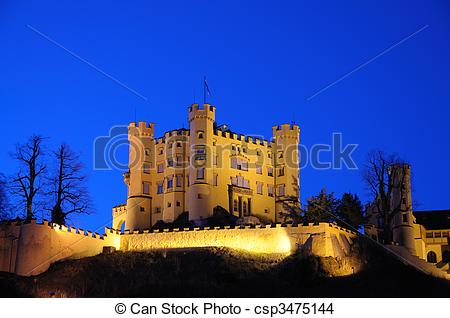 Stock Photo of Castle Hohenschwangau in Bavaria, Germany.
