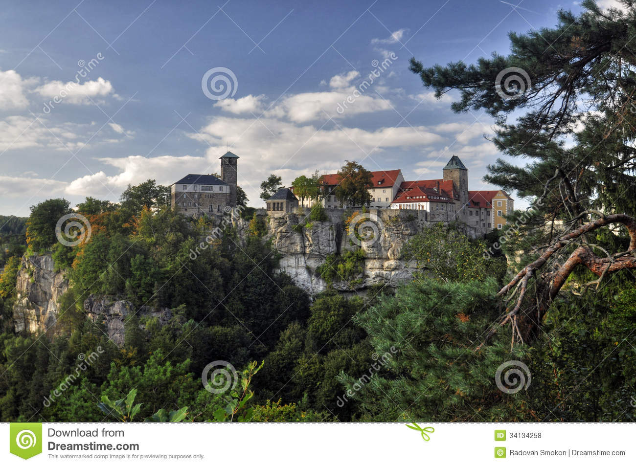 Hohnstein Castle Royalty Free Stock Photos.