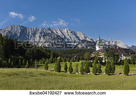 Picture of Schloss Elmau Castle Hotel, Wetterstein mountains.