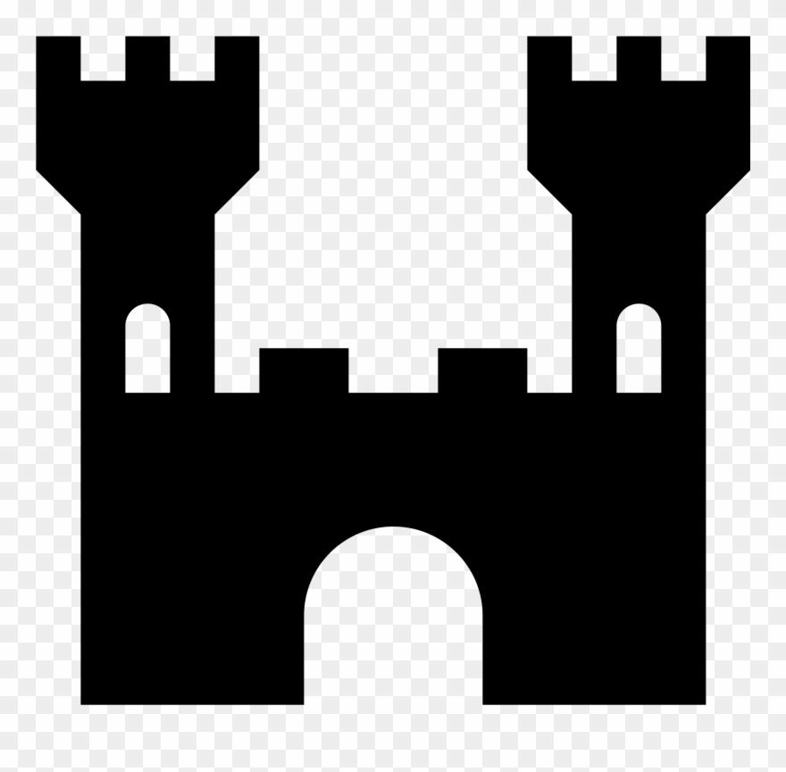 Simple Clipart Castle.