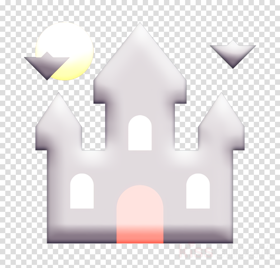 castle icon dracula icon halloween icon clipart.