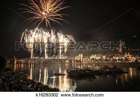 Stock Photo of Heidelberg Castle Illumination k16283302.