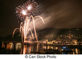 Stock Photographs of Heidelberg Castle Illumination.