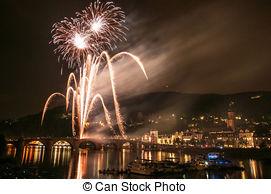 Stock Photographs of Heidelberg Castle Illumination.