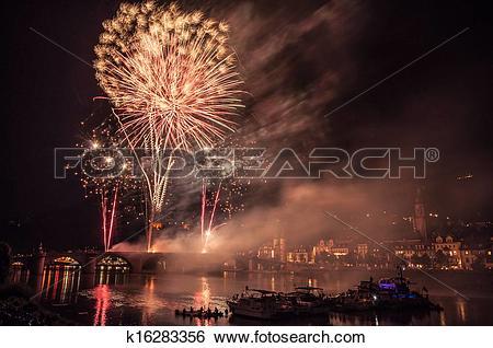 Stock Images of Heidelberg Castle Illumination k16283356.