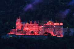Heidelberg Castle Illumination Royalty Free Stock Images.