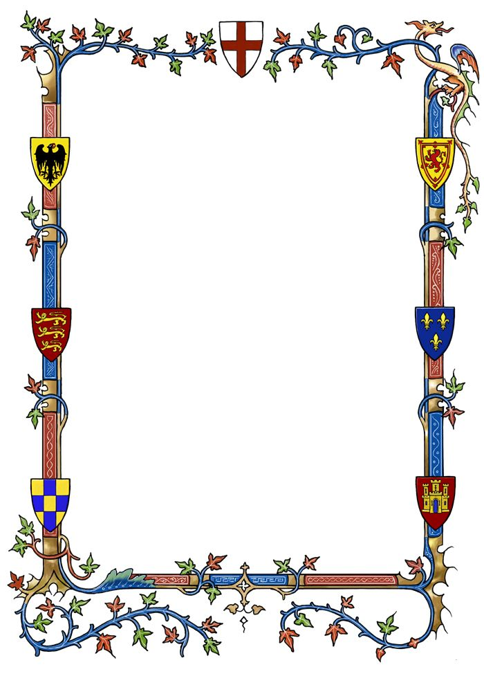 Castle border clipart clip art free fantasy medieval.