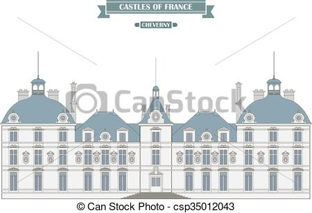 EPS Vector of Cheverny castle, France.