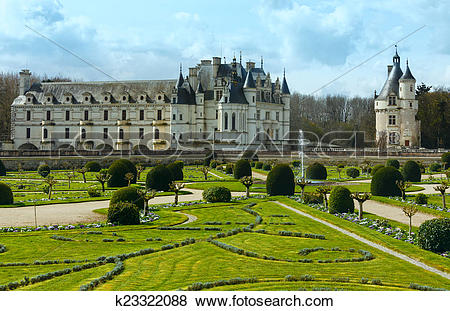 Pictures of Chateau Chenonceau or Ladies Castle (France.
