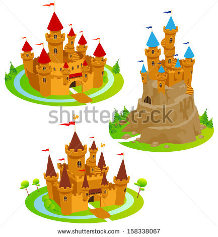 Cartoon Castle Stock Photos, Royalty.